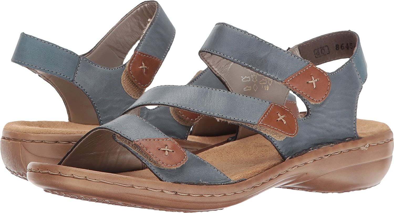 Durable Women Shoe Rieker Sandals & Flip flops Grey Online Sale