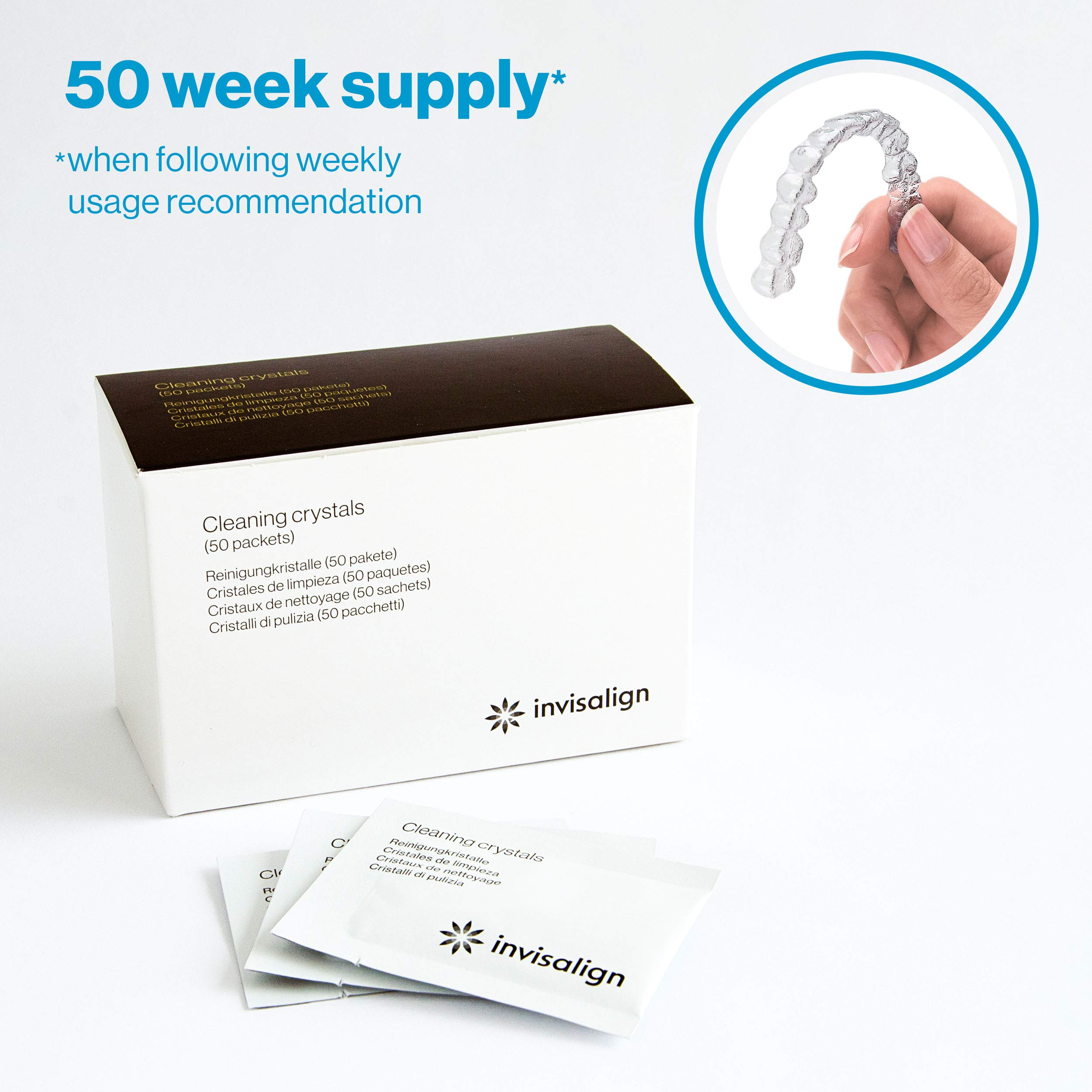 Invisalign Cleaning Crystals for Aligners and Retainers (50 week supply) by INVISALIGN
