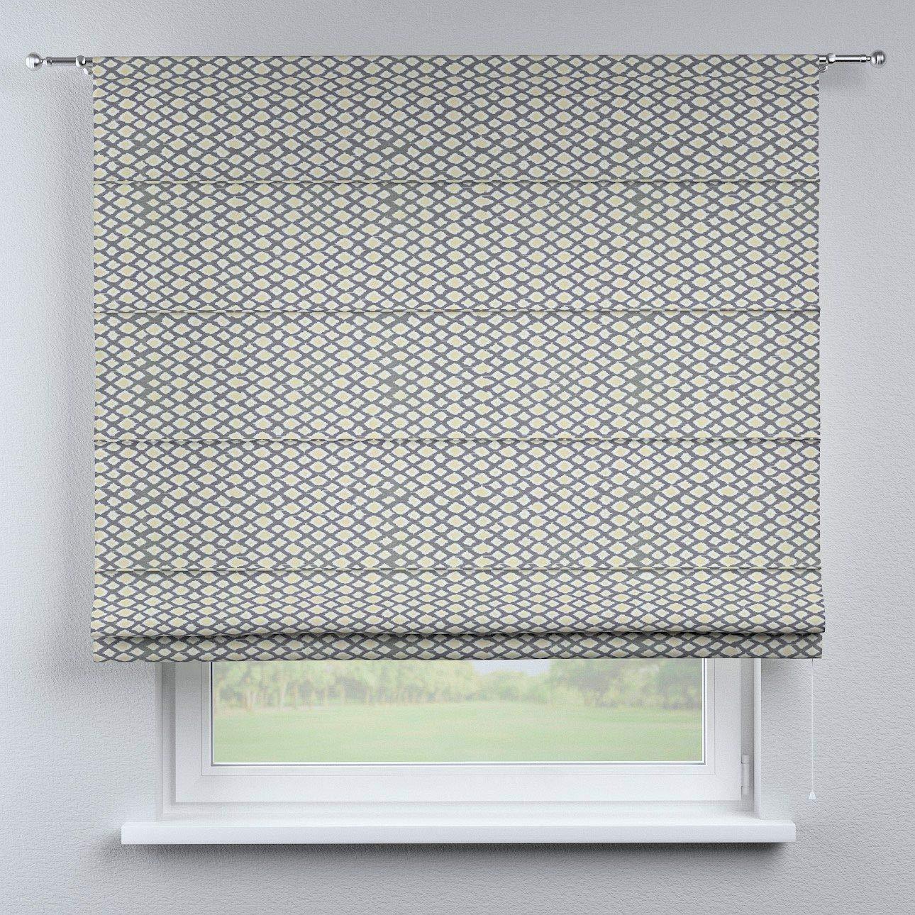 Dekoria Raffrollo Torino ohne Bohren Blickdicht Faltvorhang Raffgardine Wohnzimmer Schlafzimmer Kinderzimmer 130 × 170 cm grün-grau Raffrollos auf Maß maßanfertigung möglich