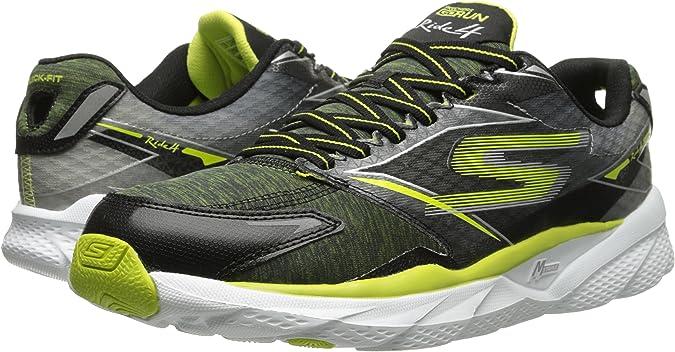 Skechers Go Run Ride 4 Excess - Zapatillas De Deporte Hombre, Negro / Lime, 39.5: Amazon.es: Zapatos y complementos