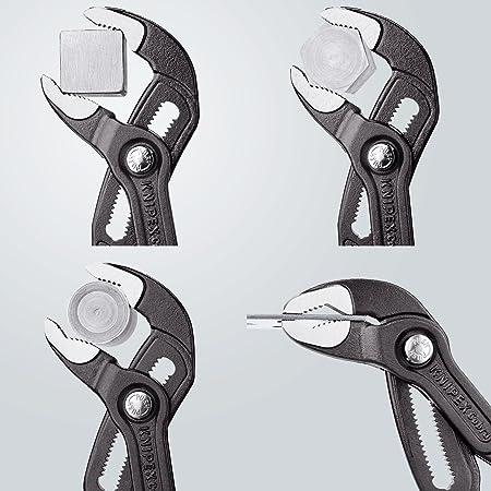 Knipex 87 51 250 Cobra ES, tenaza para bombas de agua Hightech con diseño estilizado, 250 mm: Amazon.es: Bricolaje y herramientas