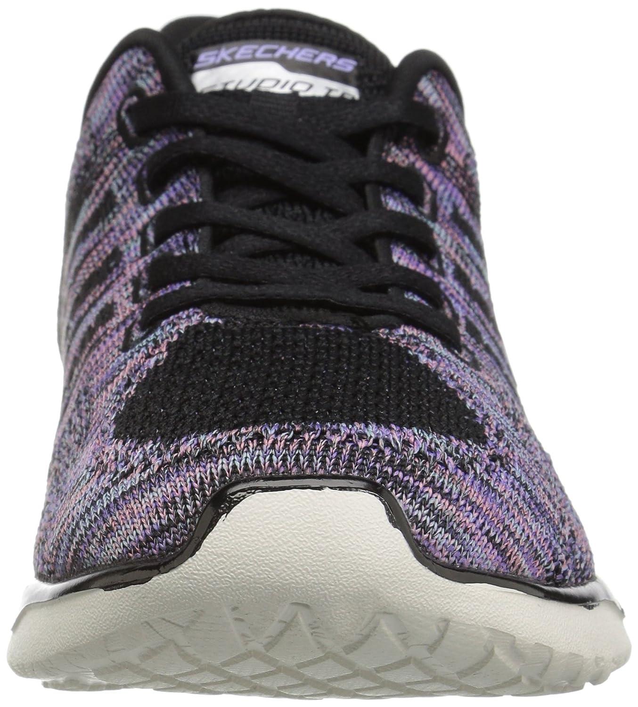 Skechers Sport Women's Studio Burst Virtual Reality Fashion Sneaker B01LXTJQE6 7 B(M) US|Black/Purple