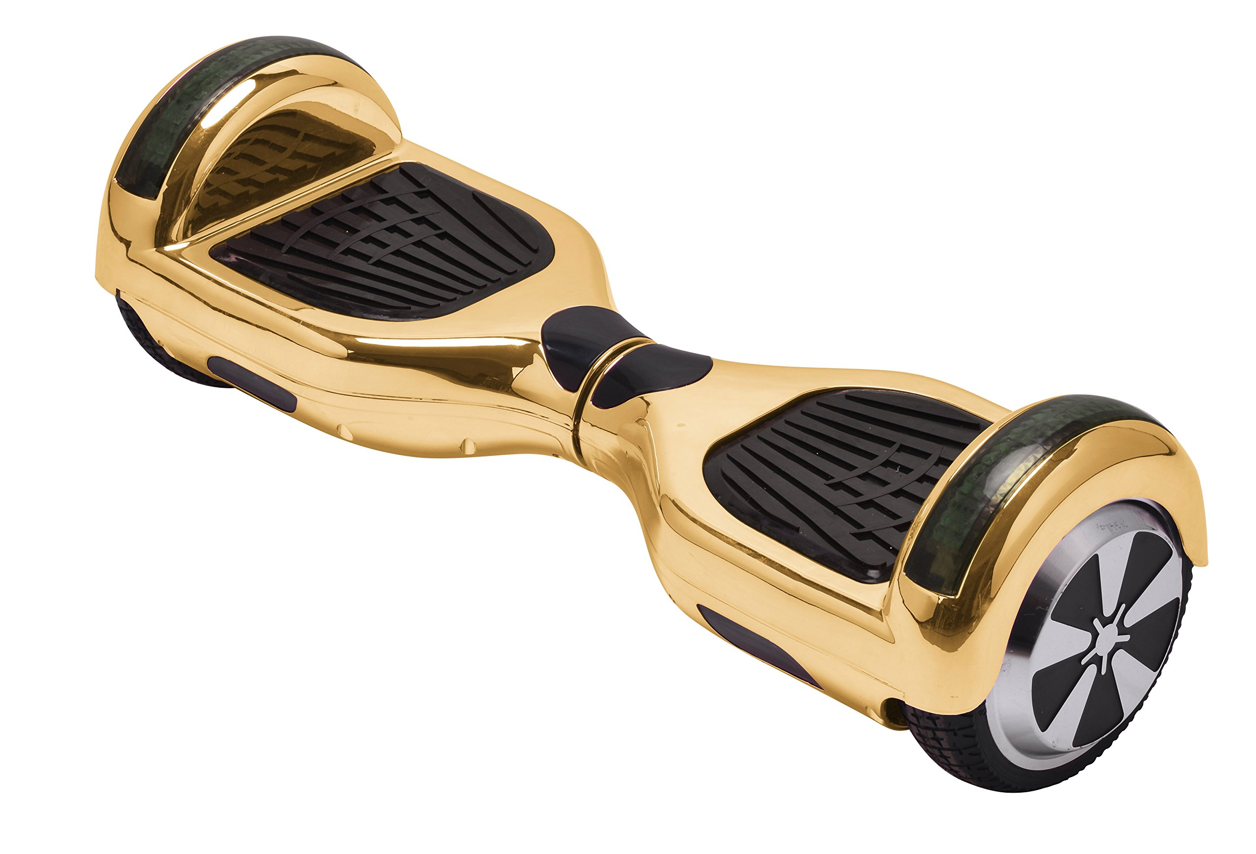 UL2272 Certified Hoverboard with Bluetooth Speaker and LED Lights Smart Self Balancing Scooter Personal Adult Transporter- Chrome Gold by Self Balance Scooter (Image #4)