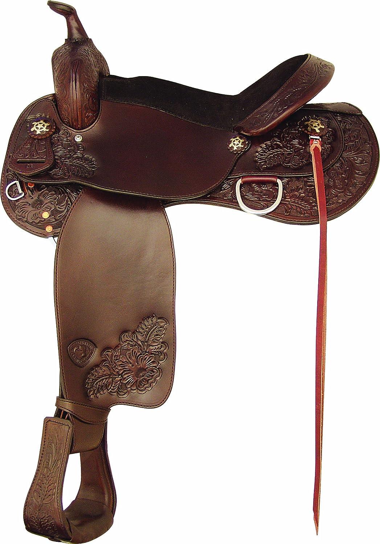 Amazon com : Tex Tan Milano Trail Saddle 17 : Sports & Outdoors