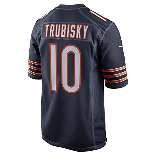 c026261f8e3 Mitchell Trubisky Chicago Bears Nike 2017 Draft Pick Game Jersey - Navy  (Large)