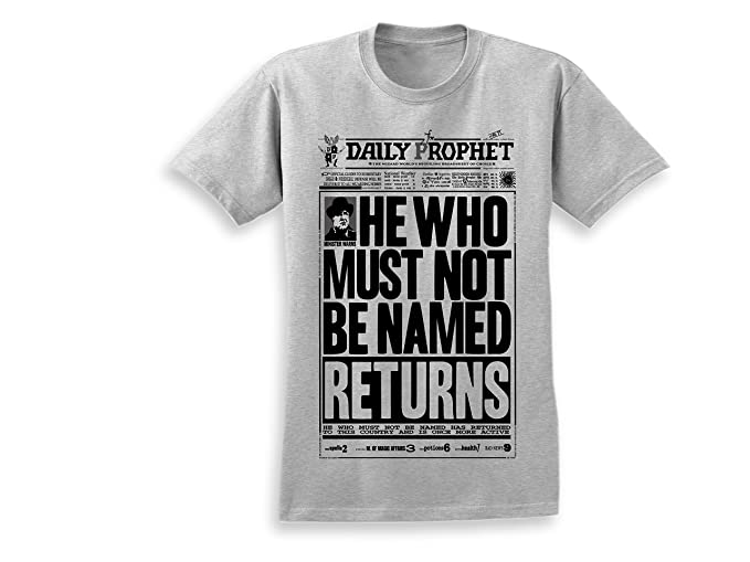 19db028a357f4 URIO Printed Cotton Designer t-Shirt   Harry Potter Voldemort HE WHO Must  NOT BE Named Returns  Amazon.in  Clothing   Accessories