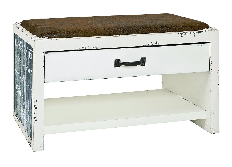 Haku Möbel 27998 Notas, 128 x 38 x 10 cm, Blanco