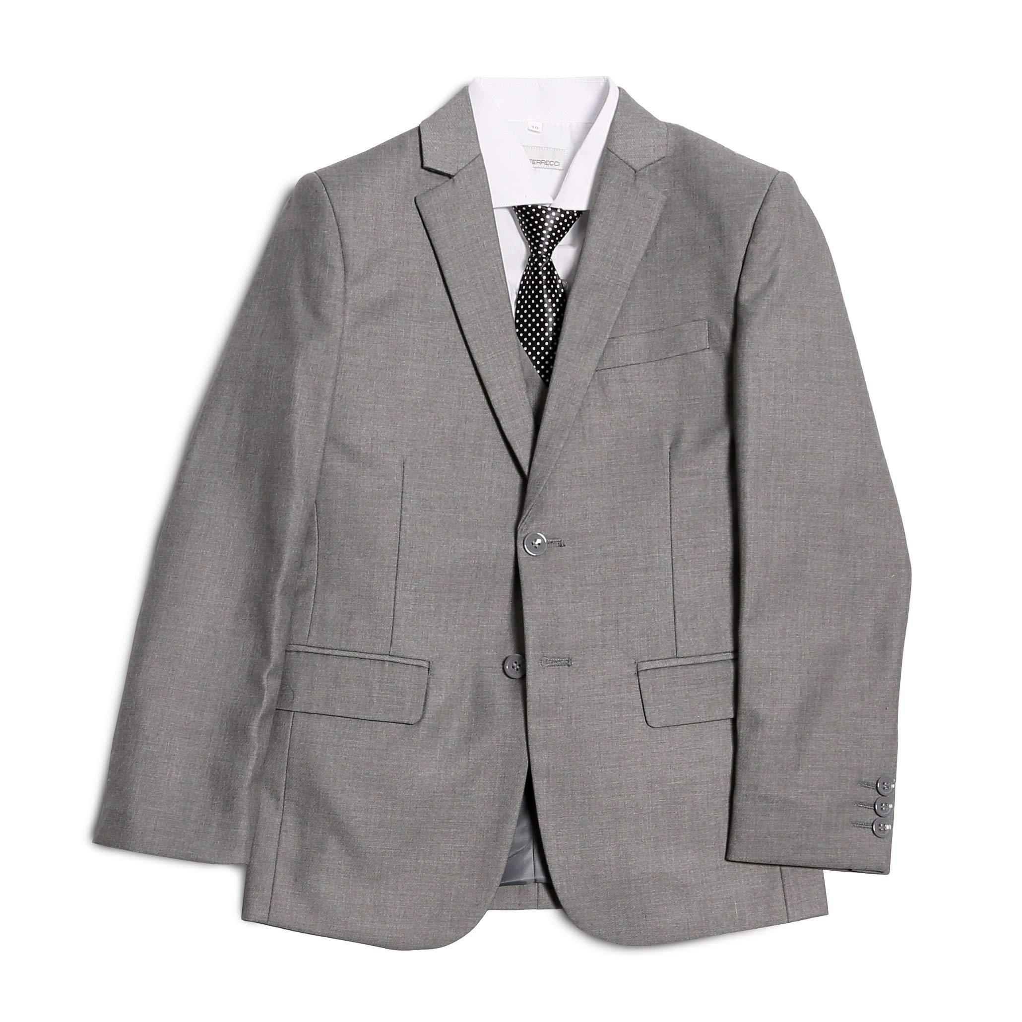 d4577f3925 Ferrecci Boys 5 Piece Suit Set - Blazer Jacket-Dress Pants-Vest ...
