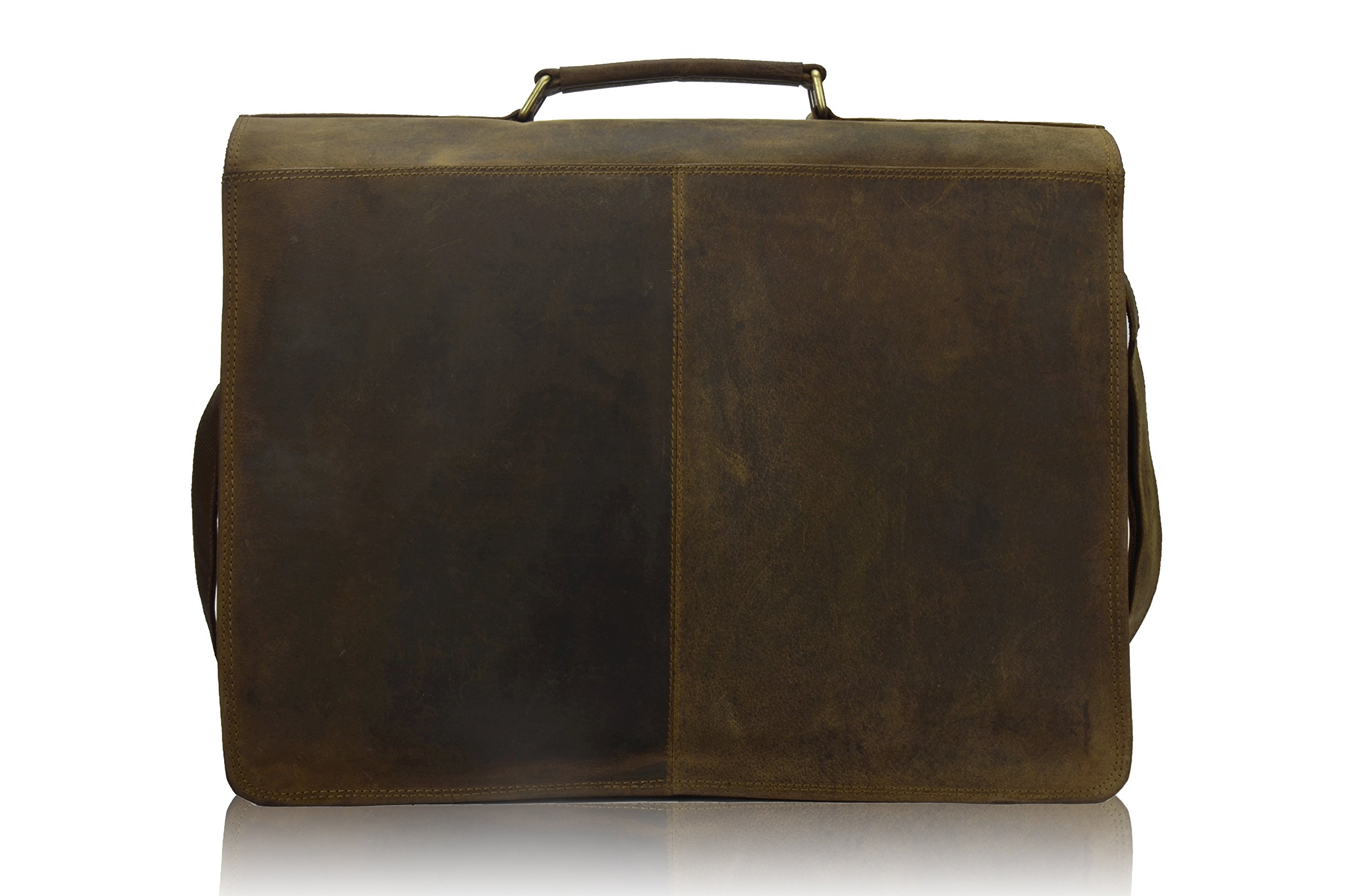 TONY'S BAGS - 18 inch Laptop bag - College Bag, Office Bag Laptop Bag Briefcase in Vintage Leather by Tony bags (Image #2)
