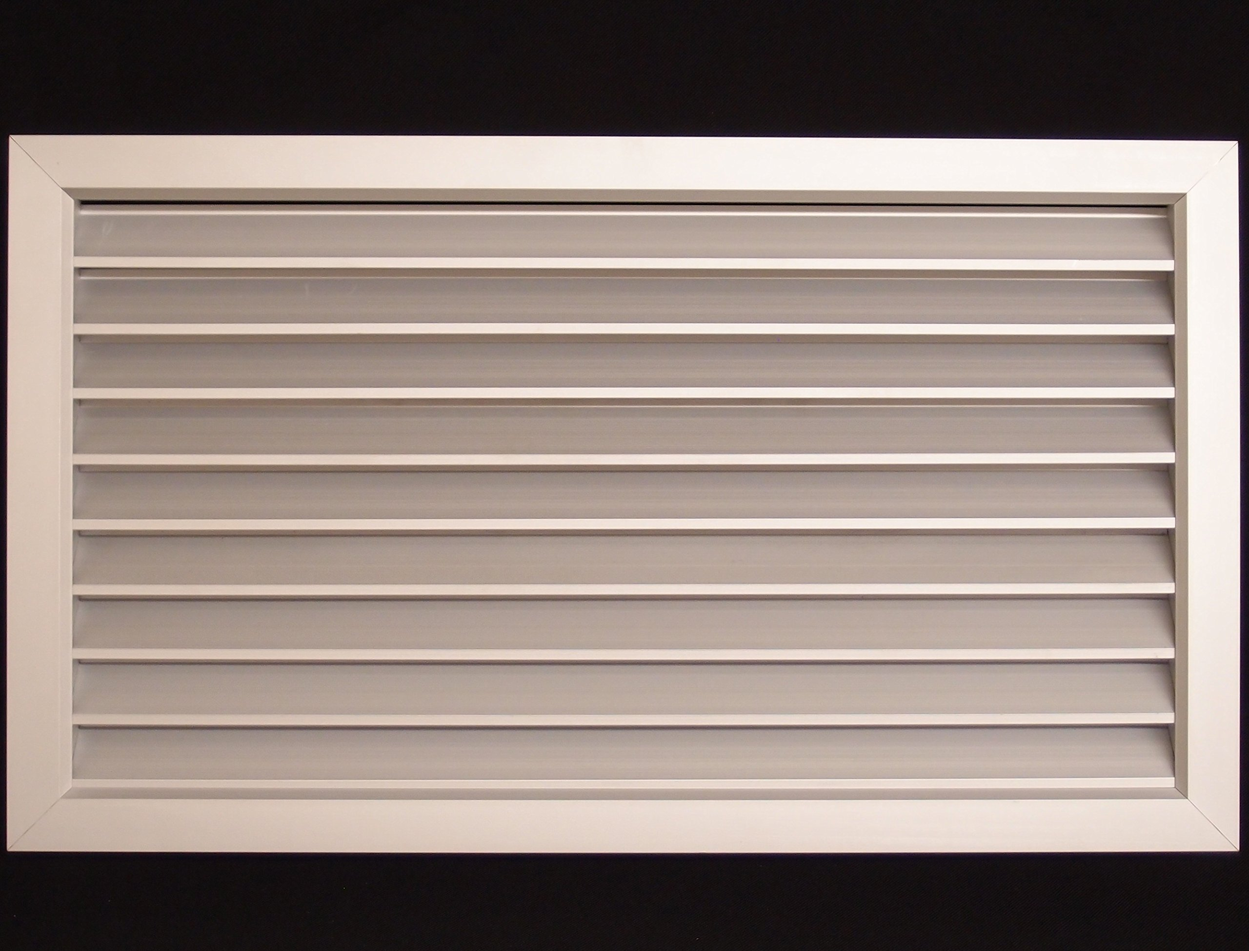 18''w X 18''h Aluminum Privacy Door HVAC Air Grille - ''V'' Shaped Louvers Enusre 100% View Block - Supply or Return
