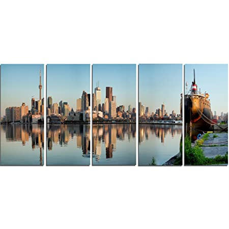 Design Art Toronto City Skyline Panorama-Cityscape Photography Metal Wall Art-MT7581-60  sc 1 st  Amazon UK & Design Art Toronto City Skyline Panorama-Cityscape Photography Metal ...
