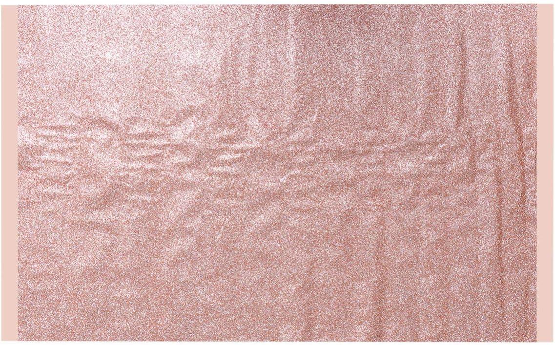 EXCEART Hojas de Tela con Brillo Hoja de Cuero de La PU Tela Artesanal Diy para Coser Patchwork Apliques Bolso Zapatos Zapatos Suministros (Oro Rosa)