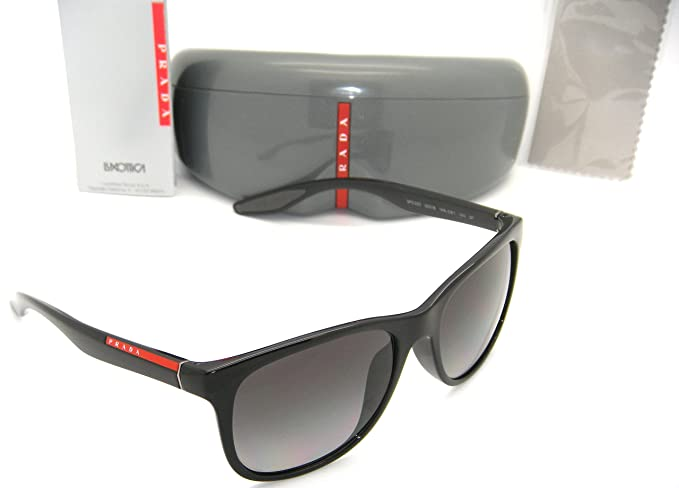 3e7cd61e New Authentic Prada Sunglasses PS 03OS 1AB5W1 55mm Black / Grey ...