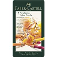 Faber-Castell Polychromos Colour Pencils, Tin of 12, (18-110012)