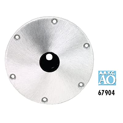 "Attwood 67904 Snap-Lock 1.77"" Base Plate - 9"" Round Aluminum: Automotive"
