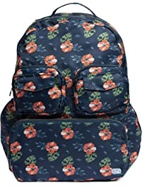 Lug Women's Puddle Jumper Packable, Aloha Navy Backpack, One Size