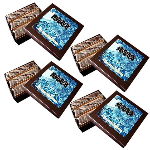 Momotombo-4 Cajas de Bombones de Chocolate Negro-Chia,Lino,Sésamo y