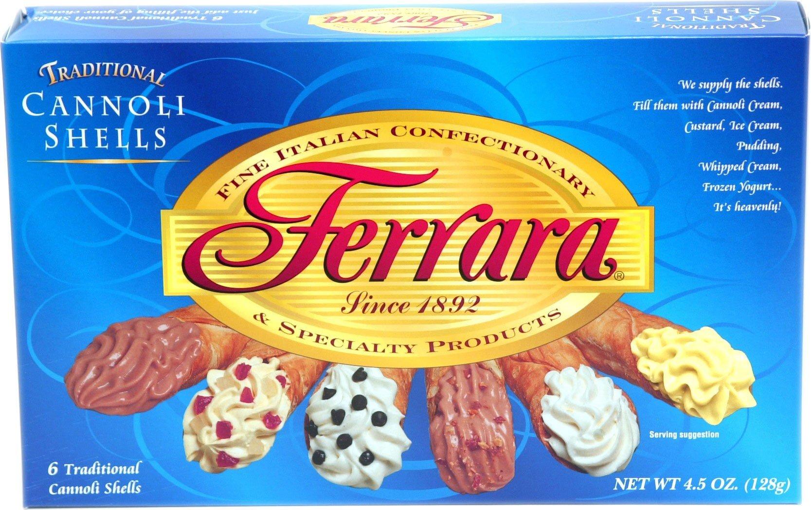 Ferrara Cannoli Shells - 2 boxes of 6 shells each by Ferrara