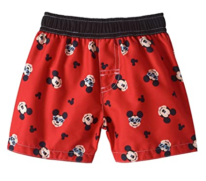 e3dcb49e2290a Baby Boys Red Mickey Mouse All Over Print Swim Trunks (0-3 Months)