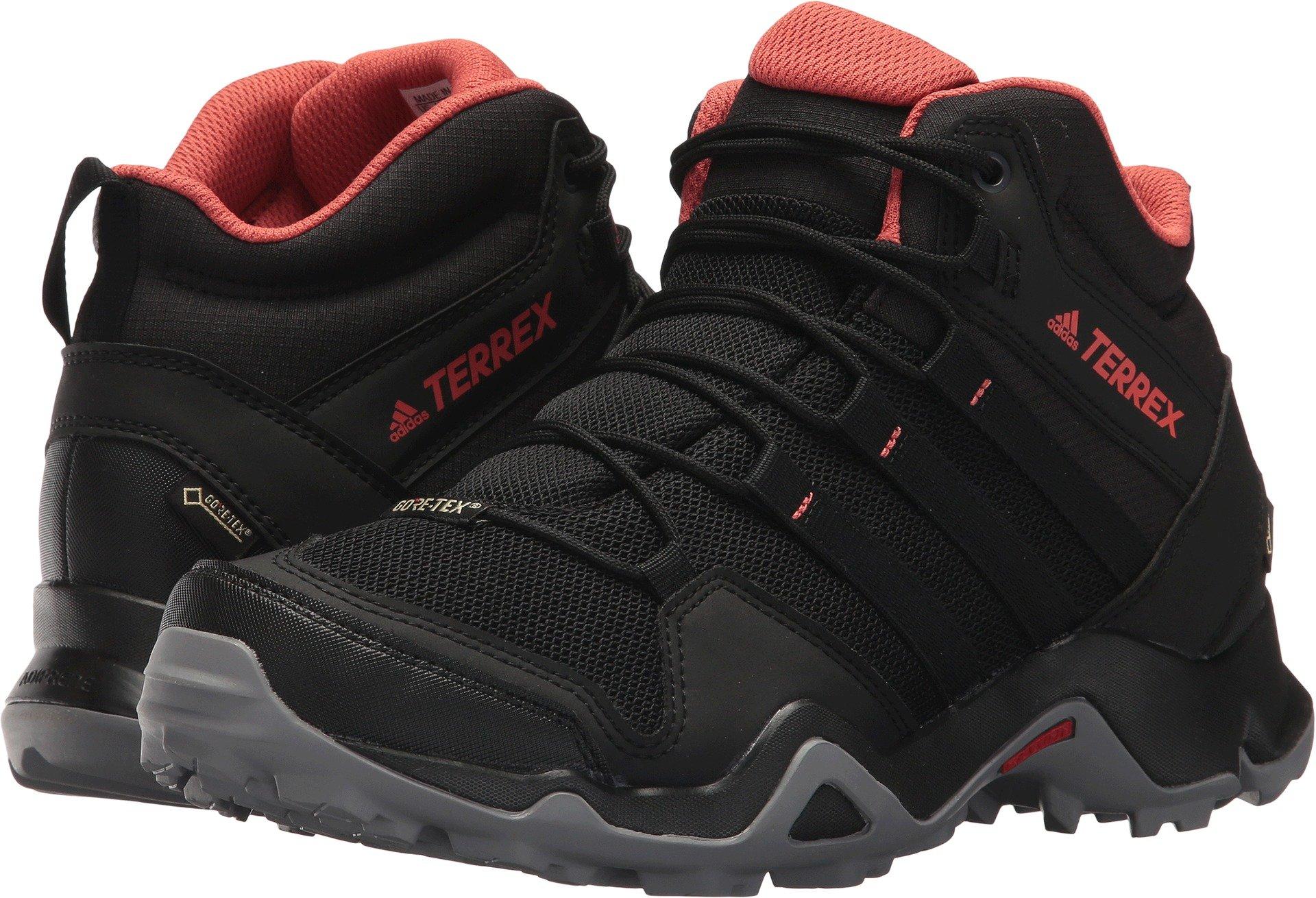 adidas outdoor Womens Terrex AX2R Mid GTX Shoe (8 - Black/Black/Trace Scarlet)