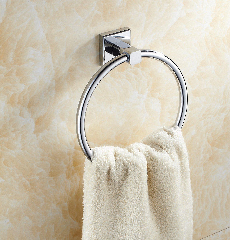 Eccoedge 86 Series Luxury Towel Ring, modern design, chrome finish