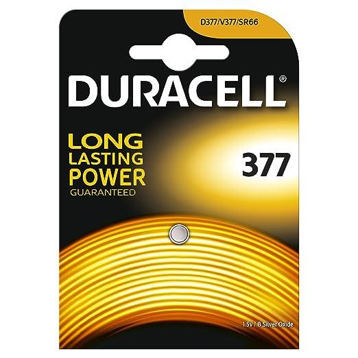 6 opinioni per Duracell Batteria Specialistica a Bottone 377 all'Ossido di Argento , confezione