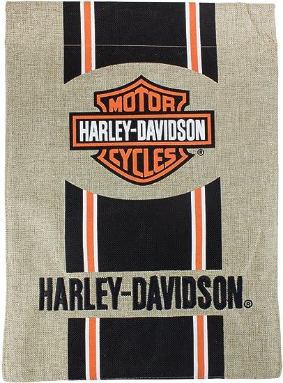 Amazon.com: Harley-Davidson Bar y Escudo Bandera Burlap ...