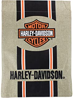 "HARLEY DAVIDSON flag 12/""x18/"" Harley Davidson burlap Camo garden flag Harley flag"