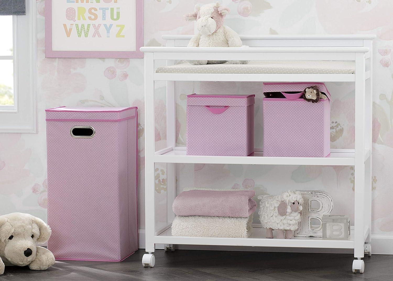 Beige Delta Children 3-Piece Nursery Organization Set for Babies and Kids