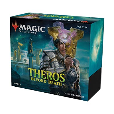 Magic The Gathering Theros Beyond Death Bundle | 10 Booster Packs (150 Cards) | Foil Lands | Accessories: Toys & Games