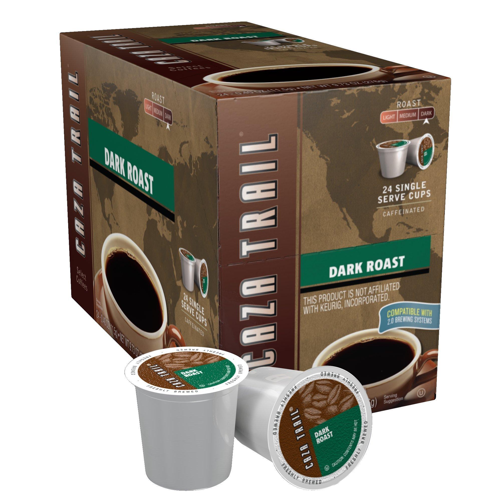 Caza Trail Coffee, Dark Roast, 24 Single Serve Cups
