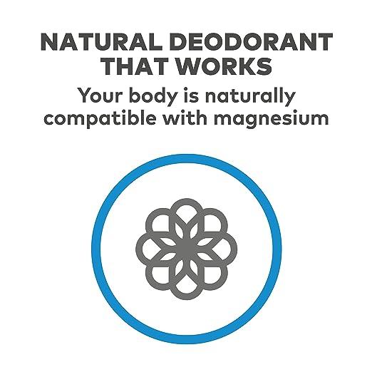 Nasanta® magnesio Desodorante Hombres - Hecho En Australia Desodorante Natural, 100% libre de todas las formas de aluminio, 100% sin aroma, 80 ml 2,7 FL OZ ...
