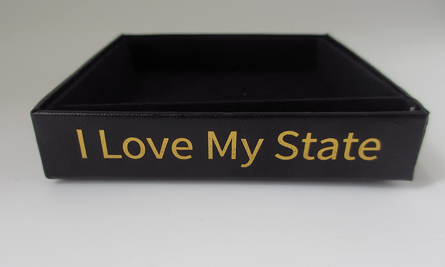Kentucky State Brass Ornament Black Leatherette Gift Box I Love My State