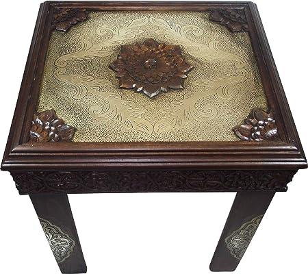 Casablanca Menemen - Vaso de salón Mesa Madera Maciza marrón ...