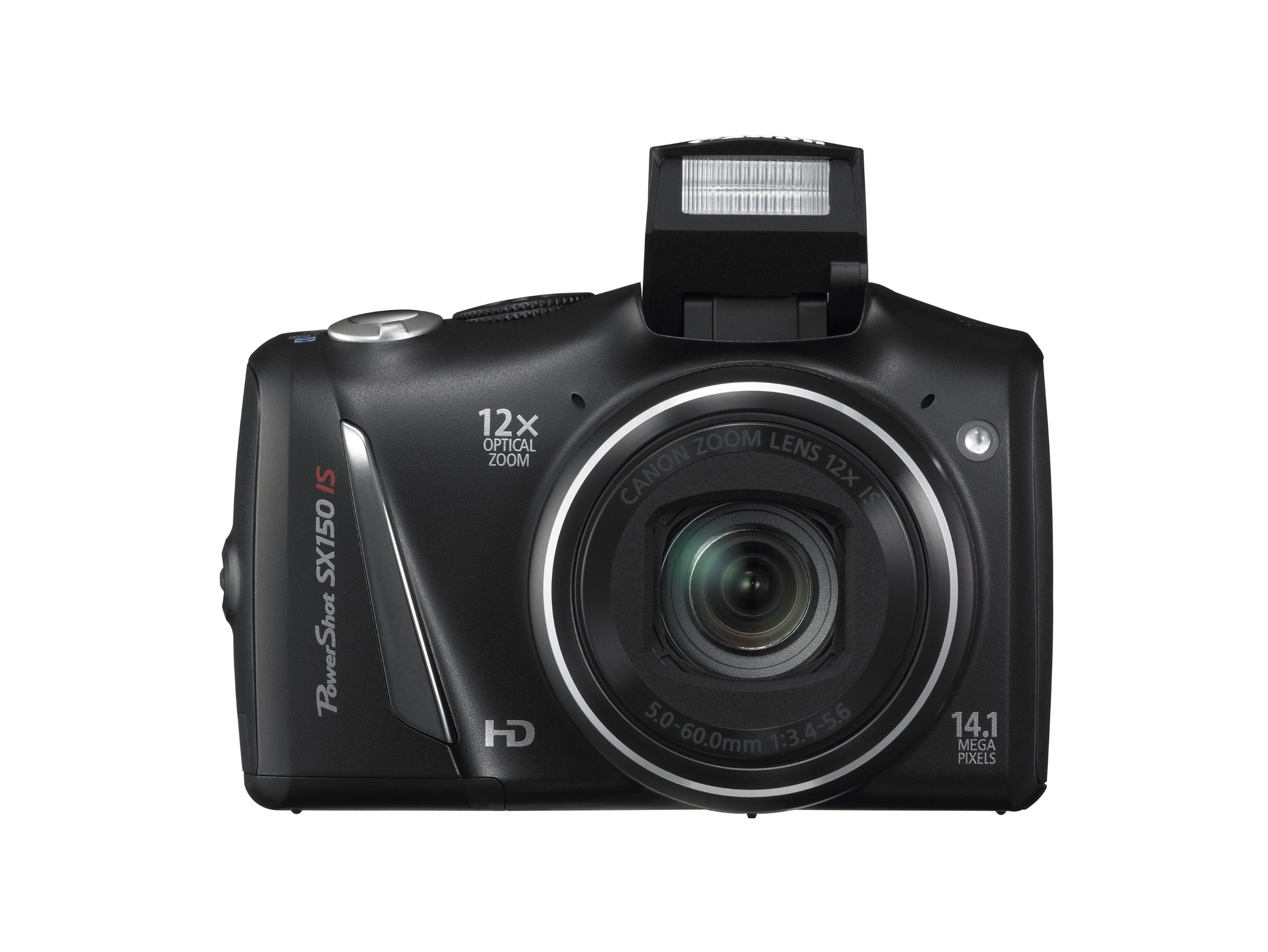 Canon PowerShot SX150 IS 14.1 MP Digital Camera with 12x Wide-Angle Optical Image Stabilized Zoom with 3.0-Inch LCD (Black) (OLD MODEL) by Canon (Image #4)