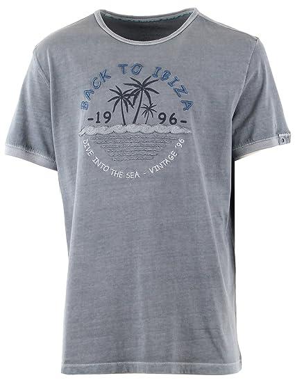 Bleu Ibiza Homme Shirt Back To Grande Taille Kitaro T EeWIYDH92