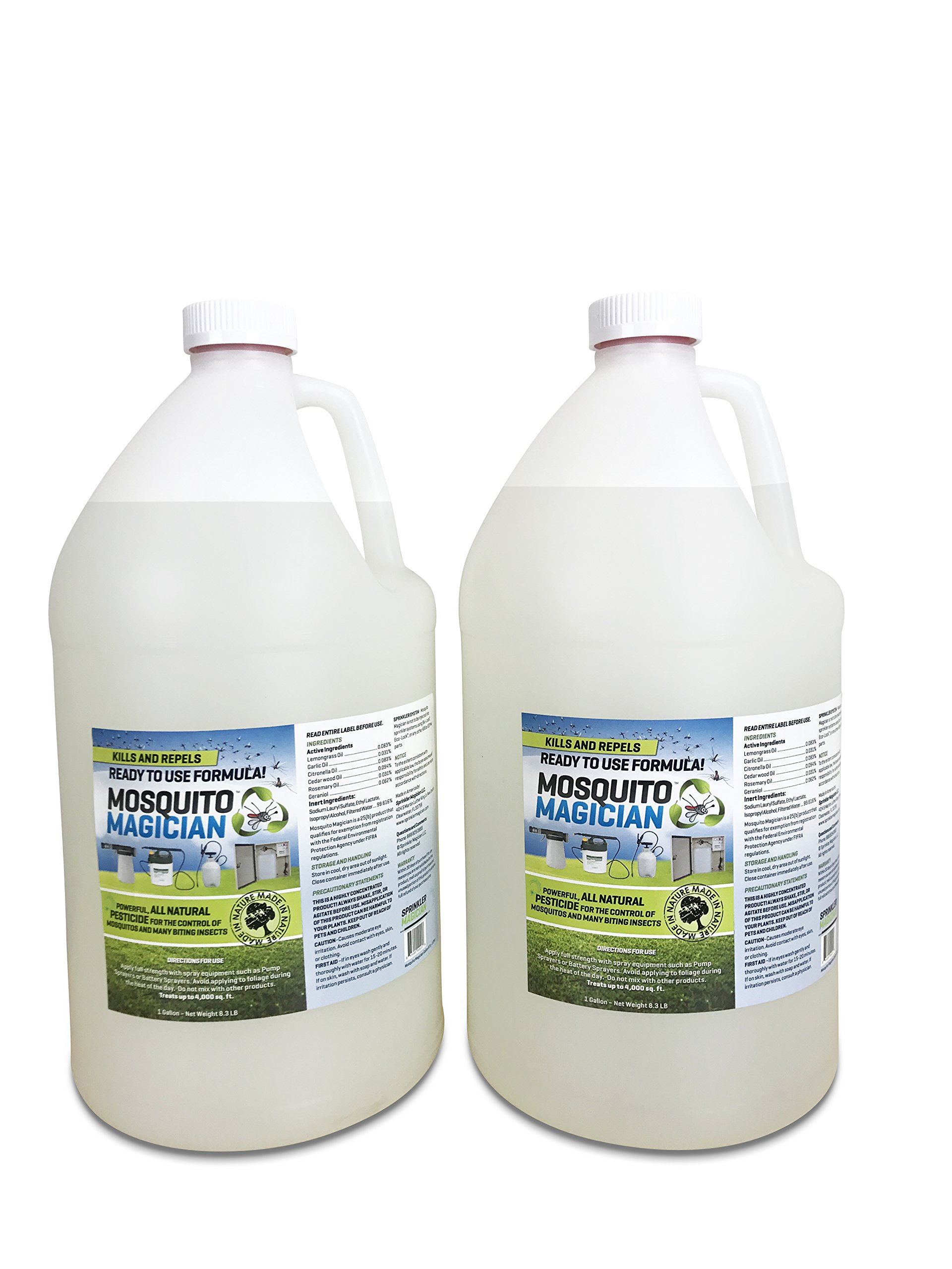 2 Gallons of Mosquito Magician Ready to USE Spray - Natural Mosquito and Insect Repellent for Outdoor Pest Control - Use in Any Sprayer by Mosquito Magician