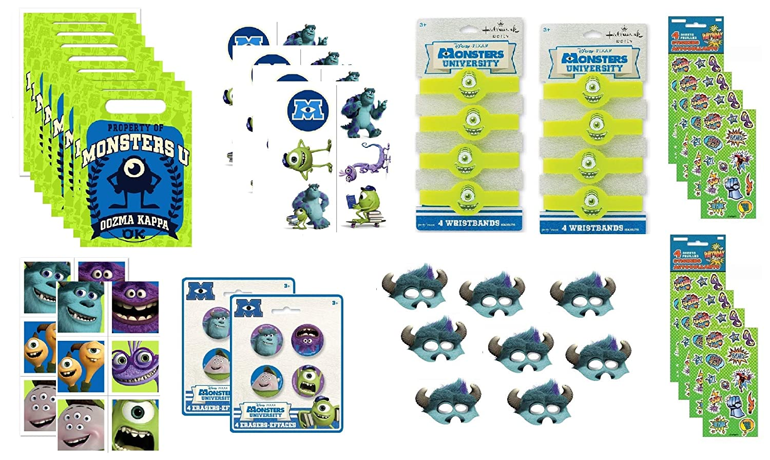 Amazon.com: Monsters University Juego de recuerdos de fiesta ...