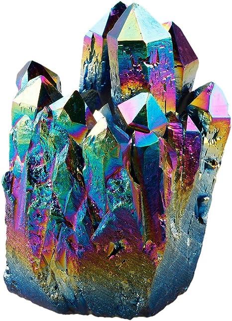 Natural Formation Raw Crystal Cluster Aura Quartz Specimen Large Crystal Point Angel Aura Quartz