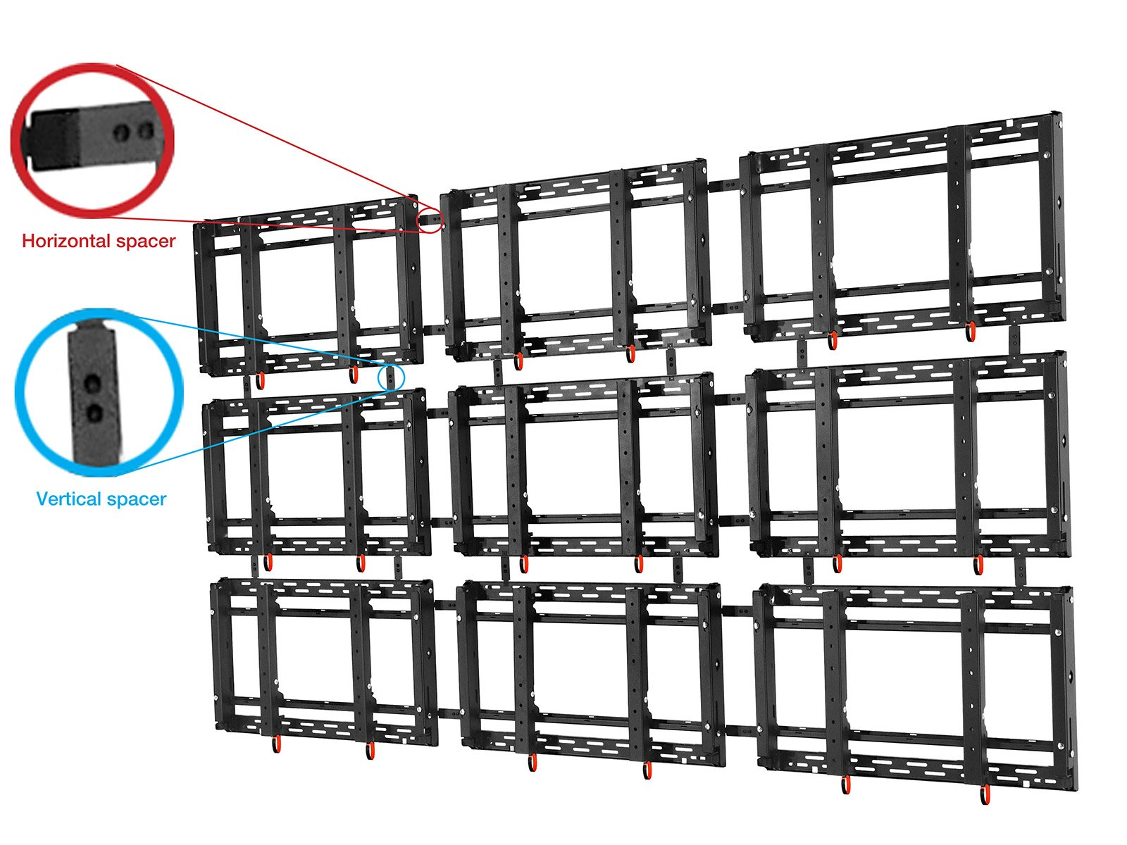 Landscape Full-svc Video Wall Mount