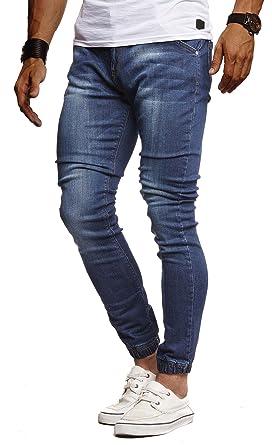 LEIF NELSON Herren Jeans Hose Slim Fit | Denim Blaue graue Lange Jeanshose für Männer | Coole Jungen weiße Stretch Freizeithose Schwarze Cargo Chino
