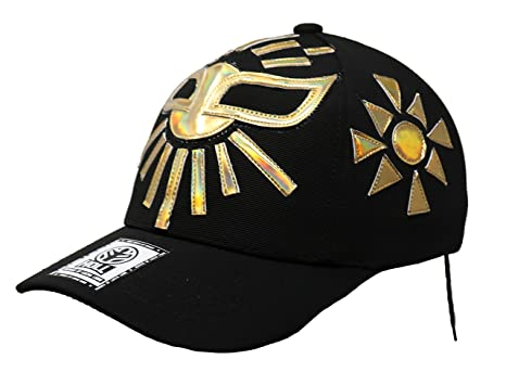 Mistico Lucha Libre Adult Unisex Stretch Fit Hat Wrestling Cap (Black)