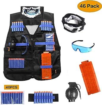 Unigear Chaleco Táctico para Niño 48P Kit para Nerf Elite N-Strike Series: Amazon.es: Juguetes y juegos