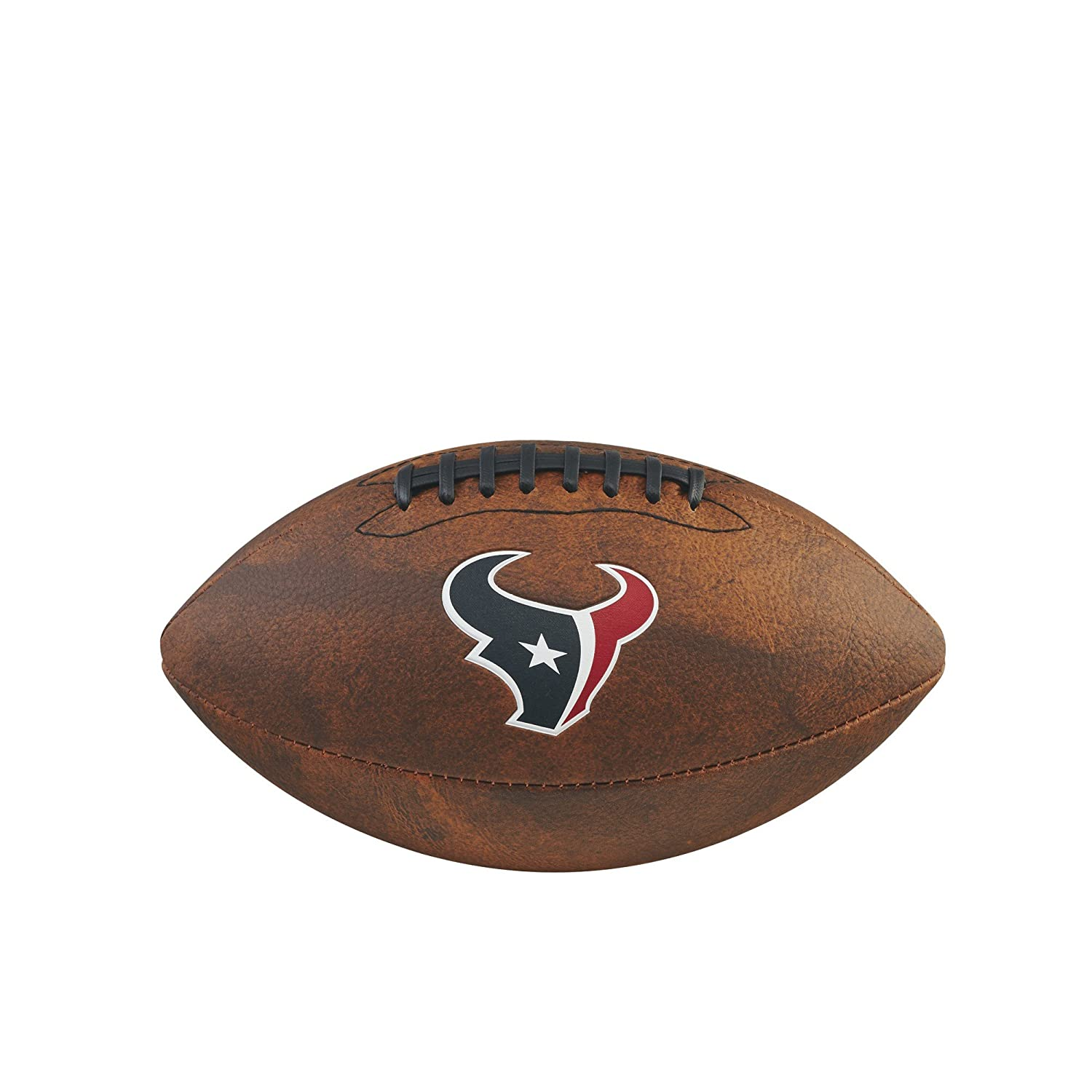 Game Master NFL Houston Texans Junior Wilson Throwback Football, 11-Inch, Brown Gulf Coast Sales WTF1539XBHU