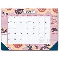 High Note 2019 Jill De Haan Deluxe 18-Month Desk Pad Planner Calendar- July 2018 to December 2019, 18.75 x 13.75; (CHX-0579)