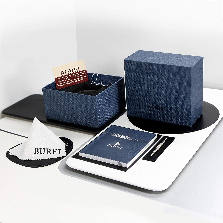 BUREI Men Automatic Watch Elegant Model Classic Design JapaneseAutomatic Movement Synthetic Sapphire