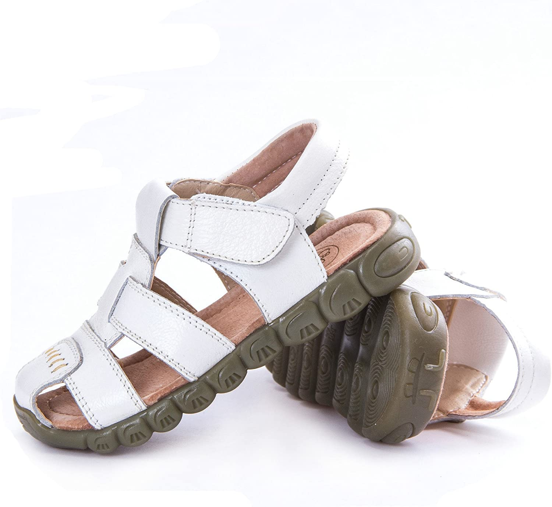 LONSOEN Leather Outdoor Sport Sandals,Fisherman Sandals for Boys Toddler//Little Kids