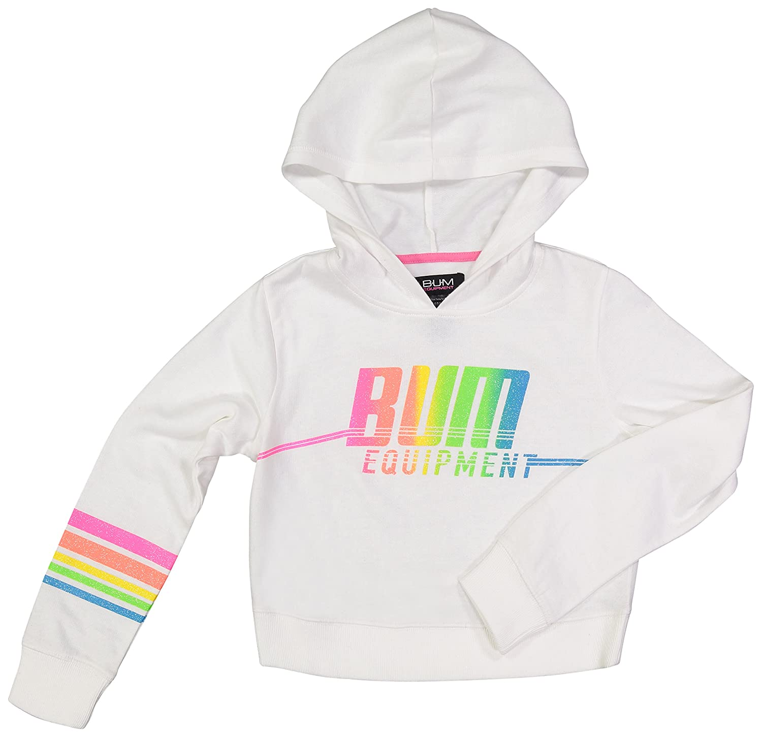 B.U.M Equipment Girls Fleece Pull Over Active Crop Top Hooded Sweatshirt K4A2016