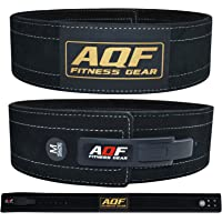 AQF Weight Lifting Leather Power Belt Lever Back Support Straps Gym Training Dipping