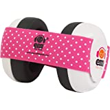 Ems for Kids BABY Earmuffs - White with Pink/White. The original baby earmuffs, now made in the U.S.A! Great for concerts, mu